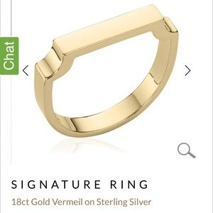 Monica Vinader Signature Gold Ring